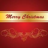 Vector Christmas greeting card. Stock Photos