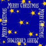 Vector christmas greeting card, seamless pattern with yellow stars Stock Photography