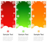 Vector Christmas Greeting Card with Snowflakes Royalty Free Stock Images