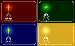 Vector christmas greeting cards. Set of four vector christmas postcards with place for text royalty free illustration