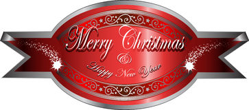 Vector christmas greetings sticker Stock Photography