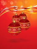 Vector Christmas Hanging Balls Royalty Free Stock Image