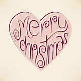 Vector christmas heart typography background Royalty Free Stock Photo