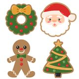Vector Christmas Holiday Decorated Cookies Christmas Illustrations stock photo