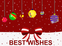 Vector christmas holiday festival best wishes balloon concept Royalty Free Stock Images