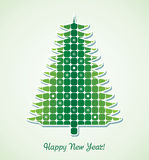 vector christmas holiday tree Stock Images