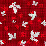 Vector Christmas Hollies. Vector Christmas Background with Hollies Royalty Free Stock Photos