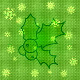 Vector Christmas Holly. Vector Christmas Background with Holly Stock Photography