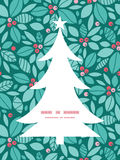 Vector christmas holly berries Christmas tree Royalty Free Stock Images