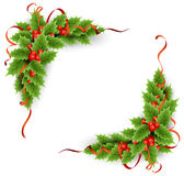 Vector Christmas holly with berries Stock Photo