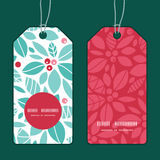 Vector christmas holly berries vertical round Royalty Free Stock Photo