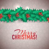 Vector Christmas Holly Garland Messages and Stock Photos