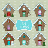 Vector christmas houses. Stock Photography