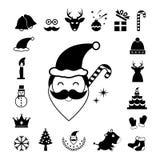 Vector christmas  icon set Royalty Free Stock Photos
