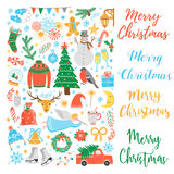 Vector Christmas icon set Stock Image