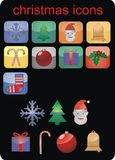 Vector Christmas icons. And buttons Royalty Free Illustration