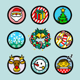 Vector Christmas Icons set Stock Image