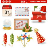 Vector Christmas Icons Set 2 Royalty Free Stock Image