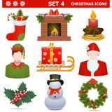 Vector Christmas Icons Set 4 Royalty Free Stock Photography
