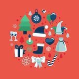 Vector christmas icons Stock Photos