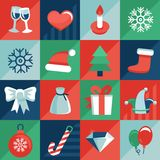 Vector christmas icons Royalty Free Stock Images