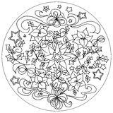 Vector Christmas illustration mandala Stock Photos