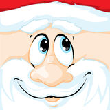 vector Christmas illustration of Santa Claus face in square - illustration Stock Photography