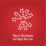 Vector Christmas illustration. Stock Image