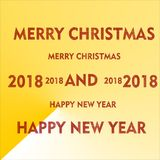 Merry christmas happy new year Royalty Free Stock Photo