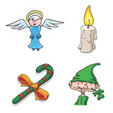 Vector Christmas Illustrations Royalty Free Stock Photos