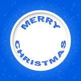 Vector Christmas invitation card. Vector Merry Christmas invitation card with ornamental lettering Stock Photos