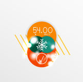 Vector Christmas label or price tag sticker. S with light effects Stock Photo
