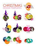 Vector Christmas label or price tag sticker Stock Image