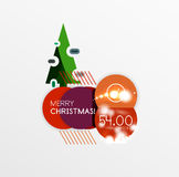 Vector Christmas label or price tag sticker Royalty Free Stock Photography