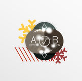 Vector Christmas label or price tag sticker. S with light effects Stock Photography