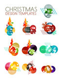 Vector Christmas label or price tag sticker Stock Photography
