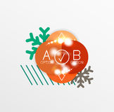 Vector Christmas label or price tag sticker Stock Photos