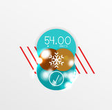 Vector Christmas label or price tag sticker Royalty Free Stock Images
