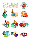 Vector Christmas label or price tag sticker. S with light effects Stock Images