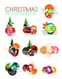 Vector Christmas label or price tag sticker Stock Photo