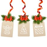 Vector Christmas Label Royalty Free Stock Photography
