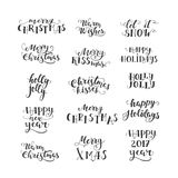 Vector Christmas lettering collection Stock Photography