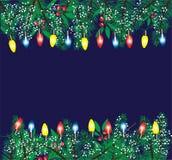 Vector Christmas Lights Stock Photography
