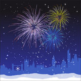 Vector Christmas London Background vector illustration