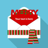 Vector of Christmas mail Stock Images