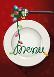 Vector of christmas menu design Royalty Free Stock Photography