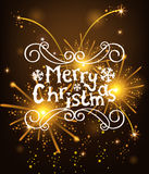 Vector Christmas Messages shine salut background. Vector illustration Royalty Free Stock Photos