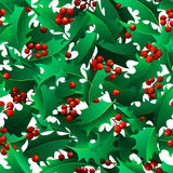 Vector Christmas mistletoe boundless background. Stock Image