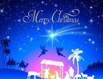 Vector Christmas Nativity Scene Stock Photos