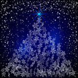Vector Christmas and New Year Background with Stock Photos